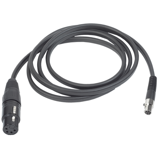 MK HS XLR 4D - Black - Detachable cable for AKG HSD headsets with 4pin XLR connector (female) - Hero