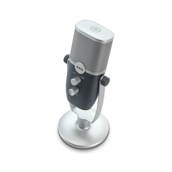 AKG Ara - Blue - Professional Two-Pattern USB Condenser Microphone - Detailshot 1
