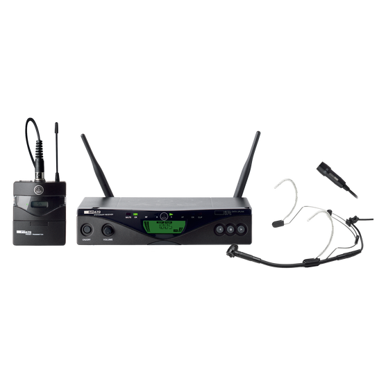 WMS470 Presenter Set Band1 50mW EU/US/UK - Black - Professional wireless microphone system - Hero