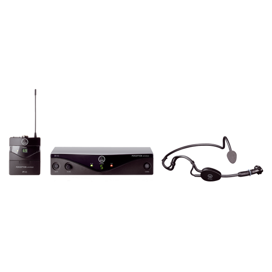 Perception Wireless 45 Sports Set Band-A - Black - High-performance wireless microphone system - Hero