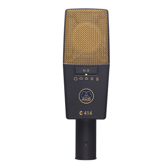 C414 XLII - Black - Reference multipattern condenser microphone - Hero