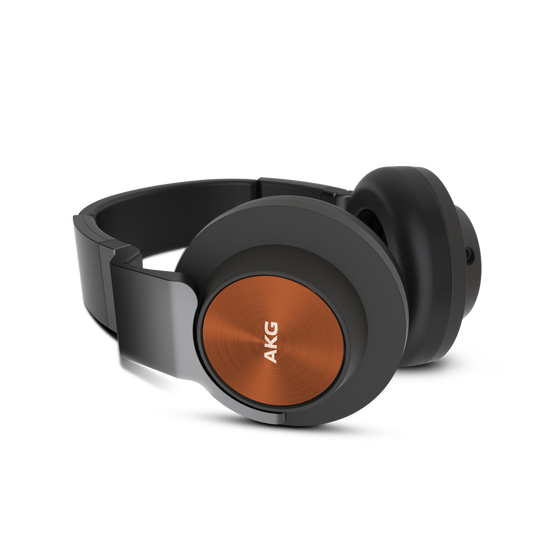 K 545 - Orange / Black - High performance over-ear headphones with microphone and remote - Detailshot 1