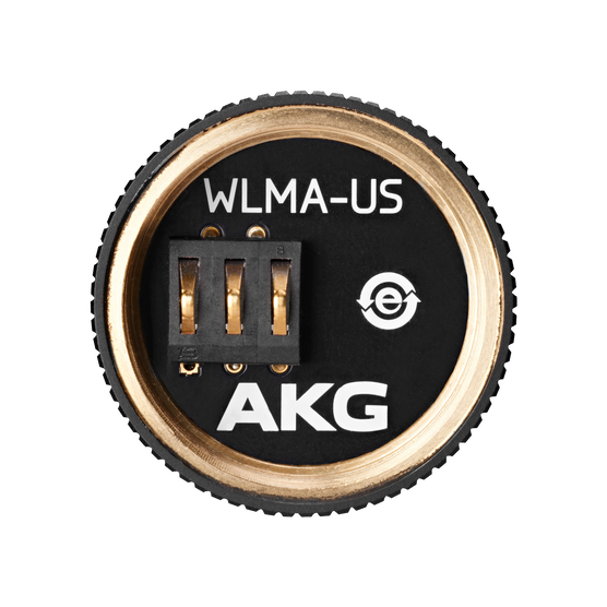 WLMA-US - Black - Wireless microphone adapter for SHURE®* wireless microphone heads - Hero