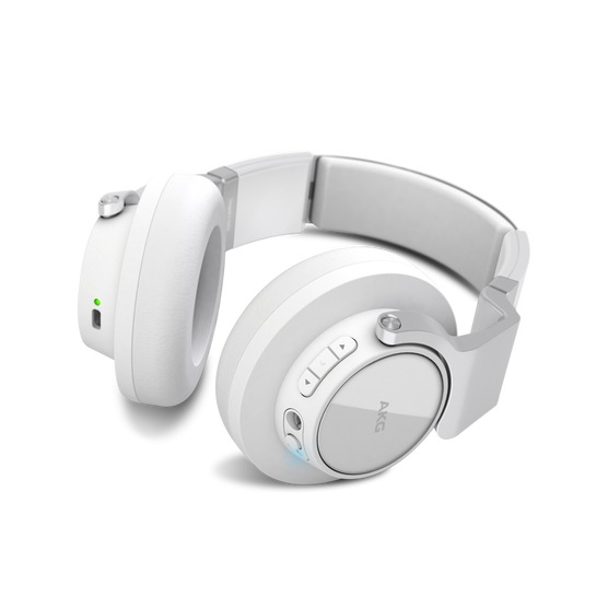 K 845BT - White - High performance over-ear wireless headphones with Bluetooth - Detailshot 1