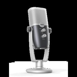 AKG Ara - Blue - Professional Two-Pattern USB Condenser Microphone - Hero