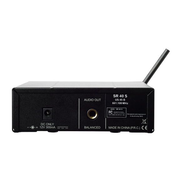 WMS40 Mini Instrumental Set Band-US25-C (B-Stock) - Black - Wireless microphone system - Back