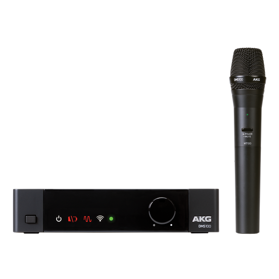 DMS100 Microphone Set - Black - Digital wireless microphone system - Hero