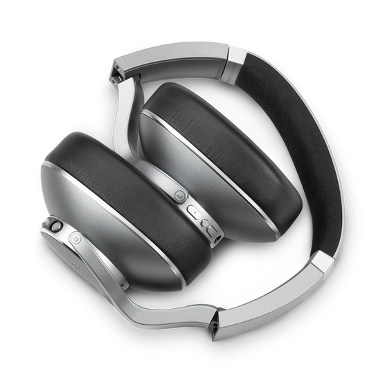 AKG N700NC Wireless - Silver - Wireless, Adaptive Noise Cancelling Headphones - Left