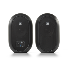 JBL 104-BT (Pair) - Black - Compact Desktop Reference Monitors with Bluetooth - Hero
