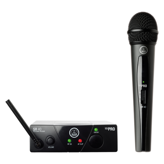 WMS40 Mini Single Vocal Set - Black - Wireless microphone system - Hero