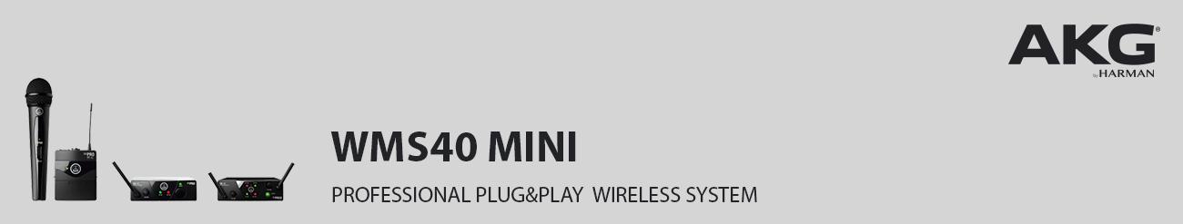 AKG WMS40 Mini Single Vocal Set Wireless Microphone 4