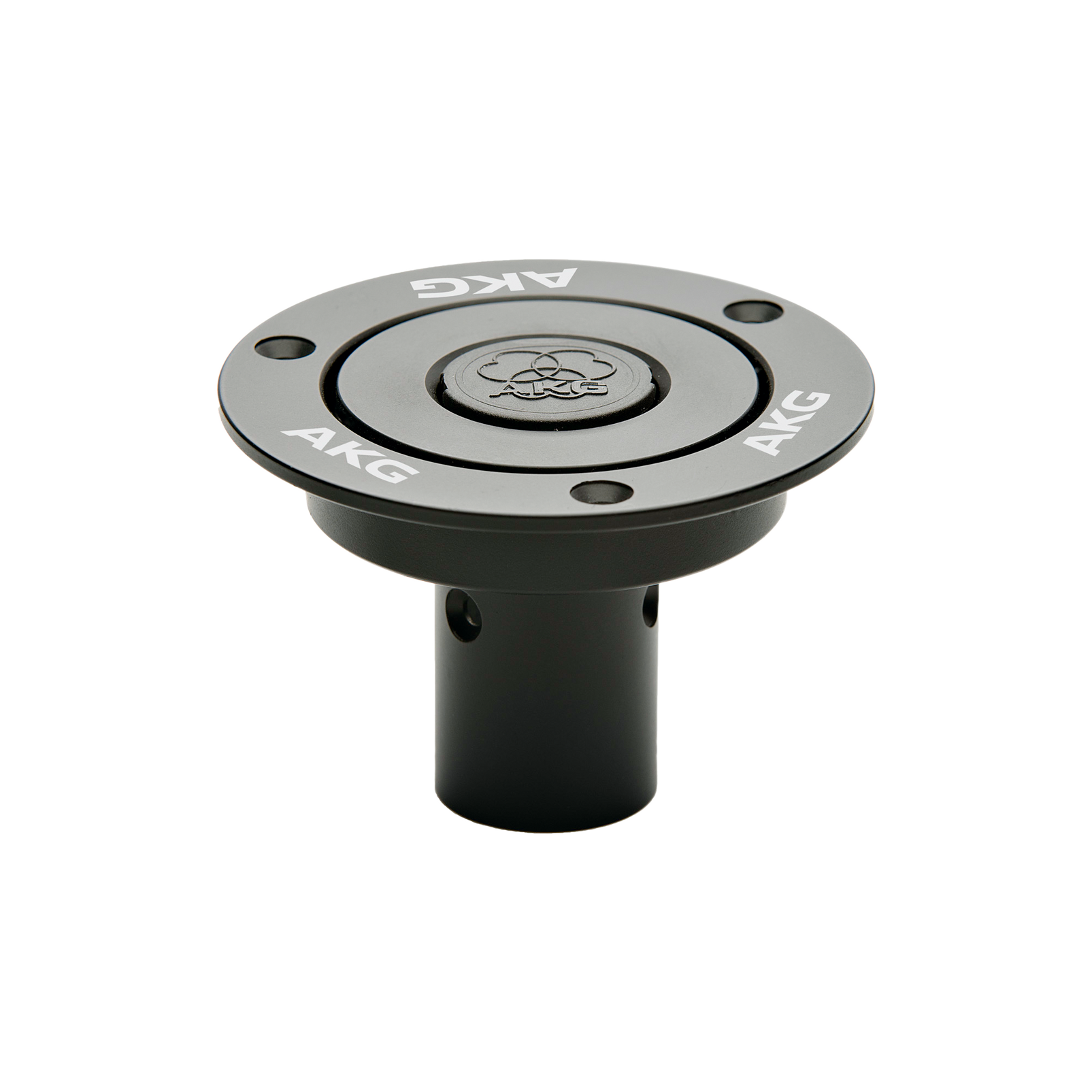 MF M - Black - Mounting flange for use with DAM+ Microphone series - Hero