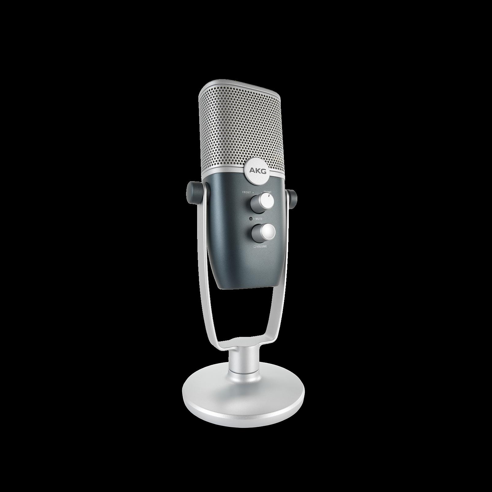 AKG Ara - Blue - Professional Two-Pattern USB Condenser Microphone - Detailshot 4