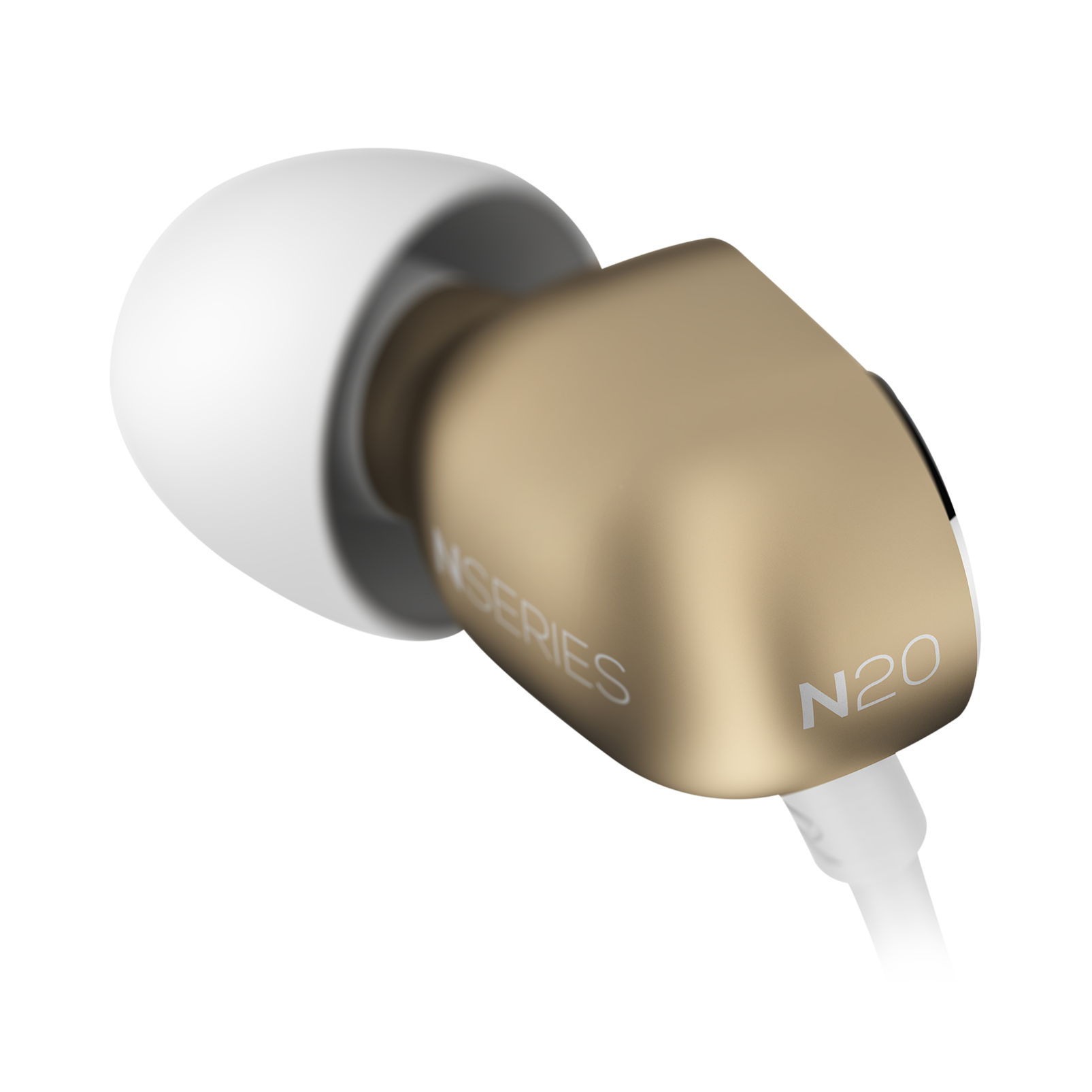 N20 - Gold - Reference class in-ear headphones in aluminum enclousure - Detailshot 3