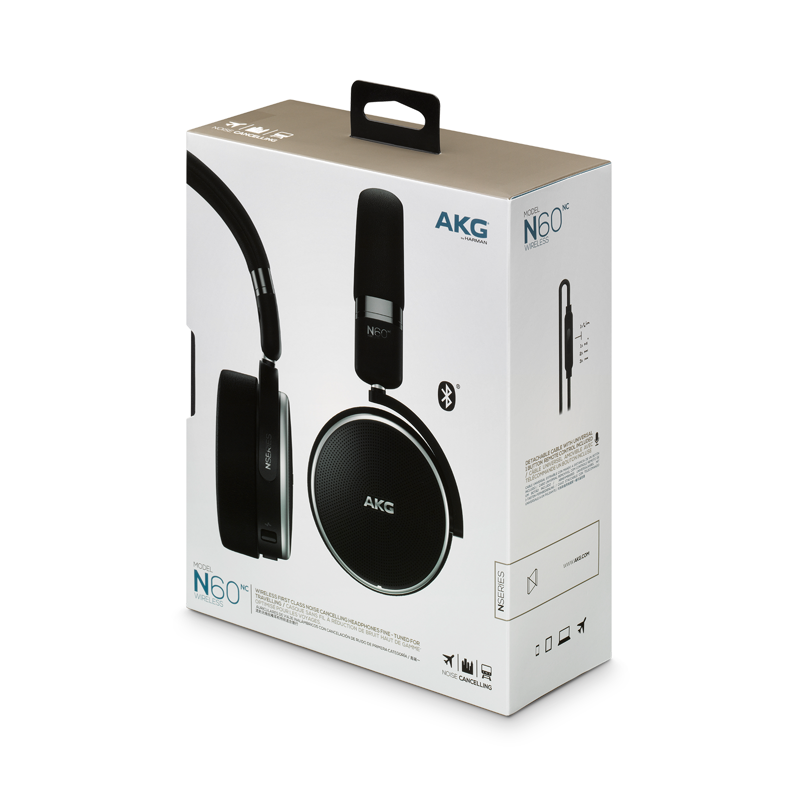 N60NC Wireless | On-ear wireless headphones with active noise