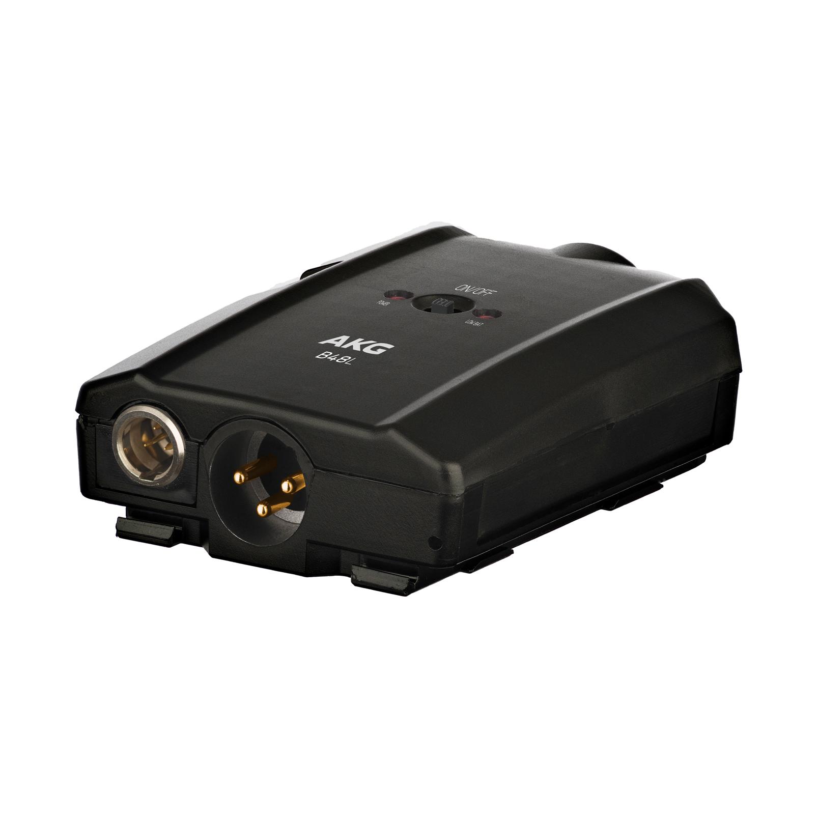 B48 L - Black - Battery-operated phantom power supply - Hero