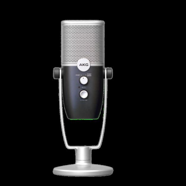AKG Ara - Blue - Professional Two-Pattern USB Condenser Microphone - Detailshot 15