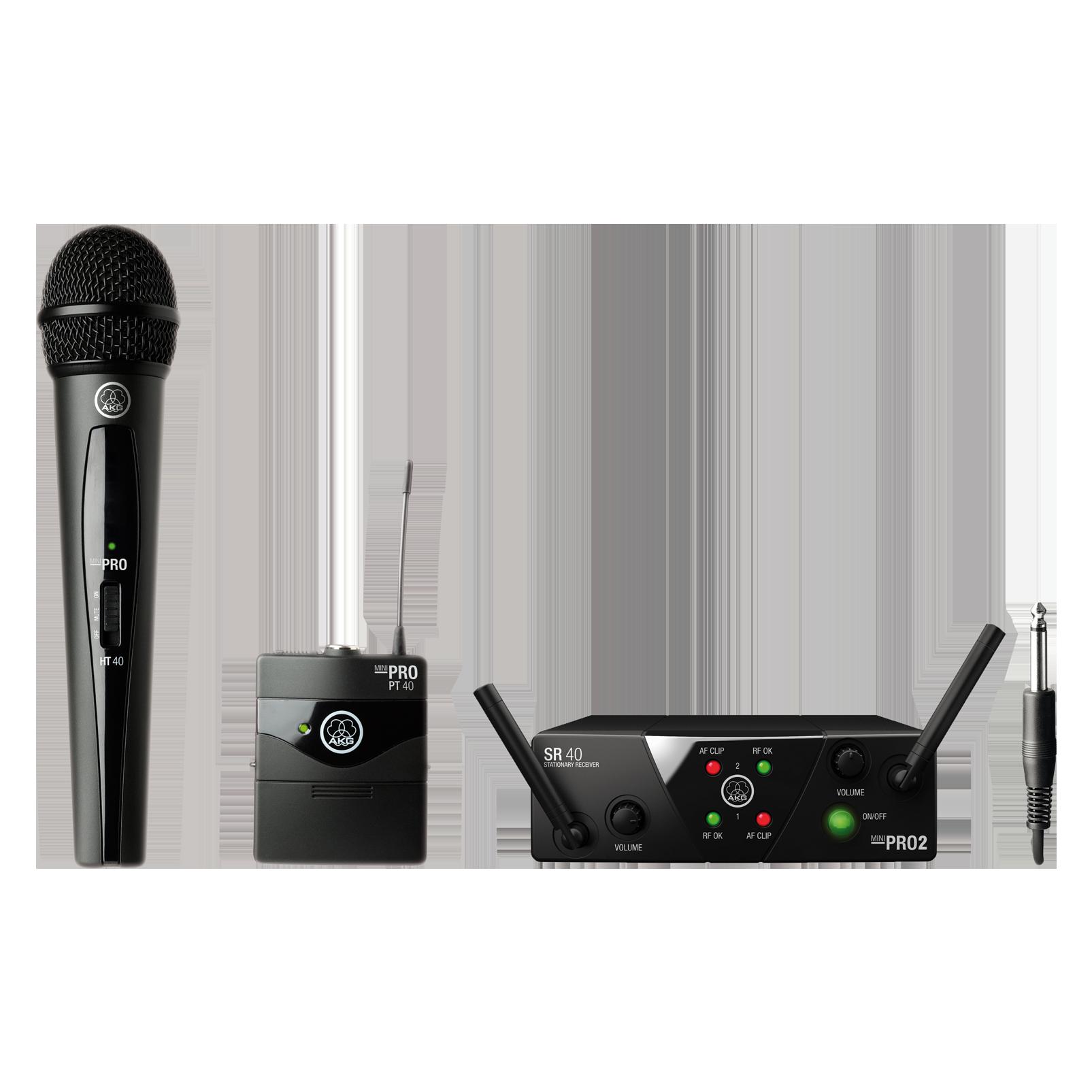WMS40 Mini Dual Vocal Instrumental Set - Black - Wireless microphone system - Hero