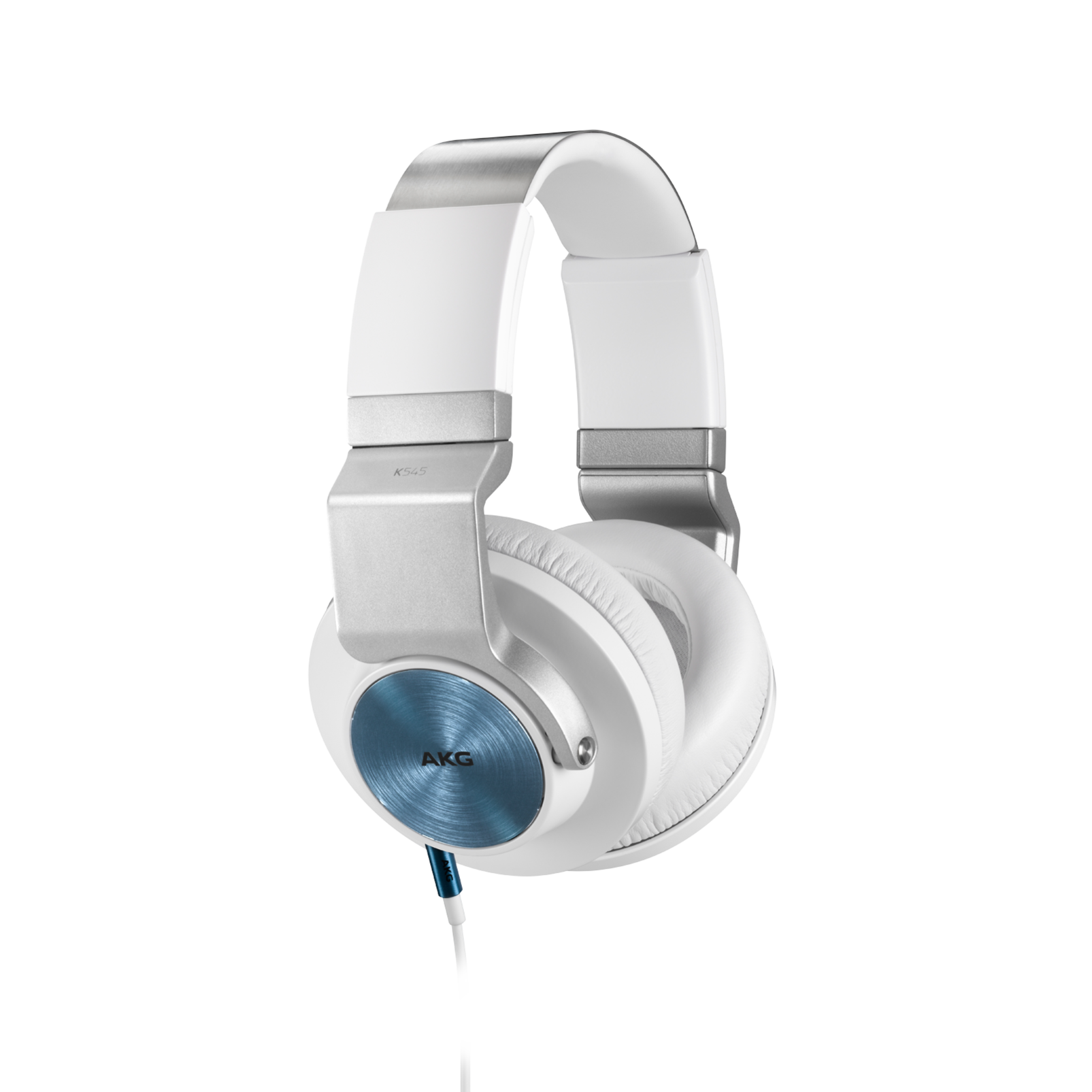 K 545 - White - High performance over-ear headphones with microphone and remote - Hero