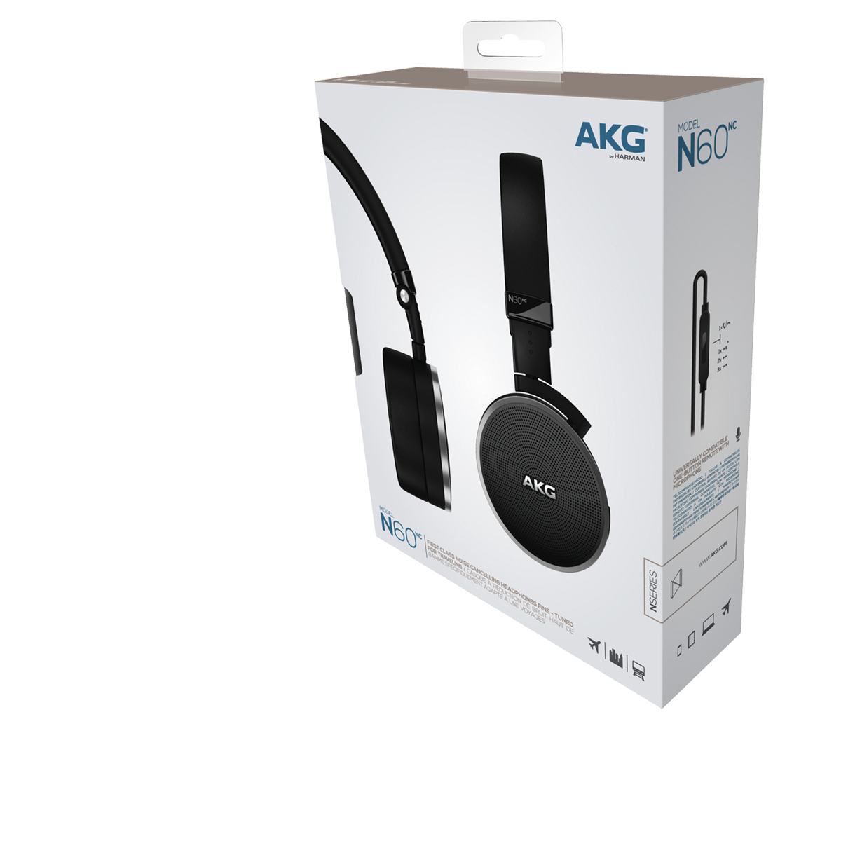 Akg N60nc Premium Headphones With Noise Cancellation Military Headphone Jack Wiring Diagram Spec Sheet En