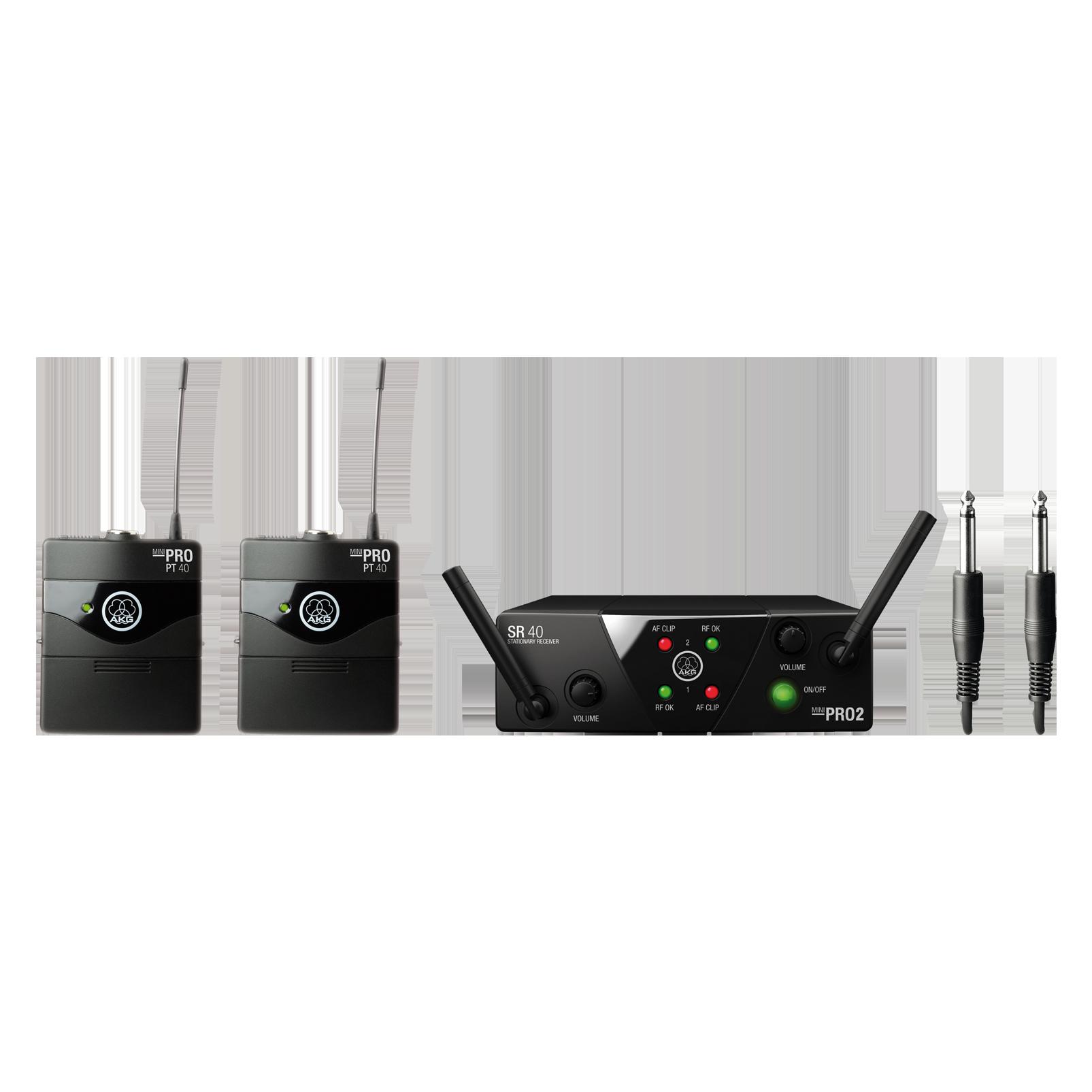 WMS40 Mini Dual Instrumental Set - Black - Wireless microphone system - Hero