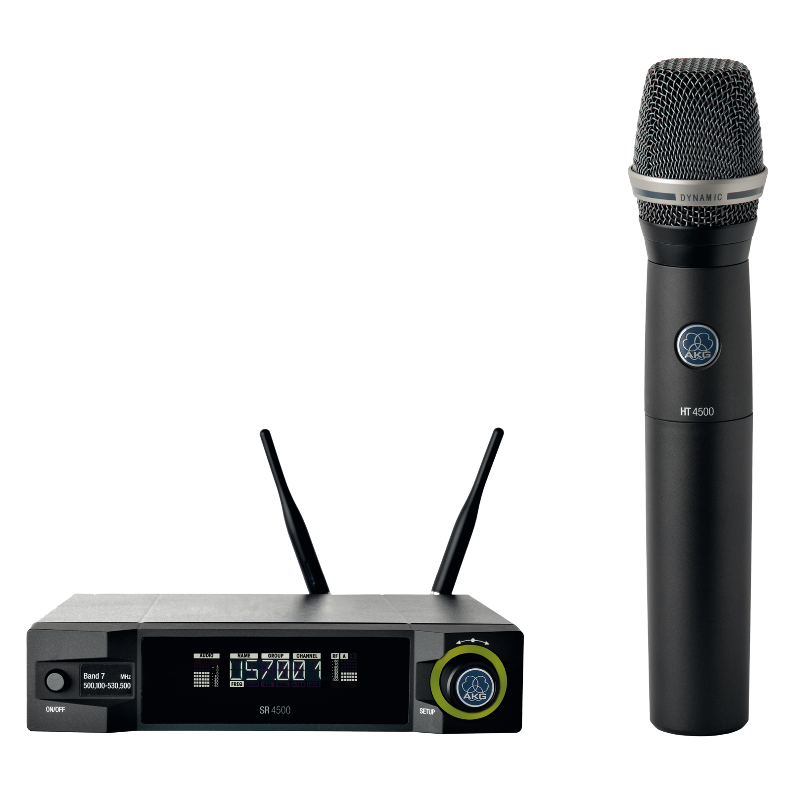 WMS4500 D7 Set - Black - Reference wireless microphone system - Hero