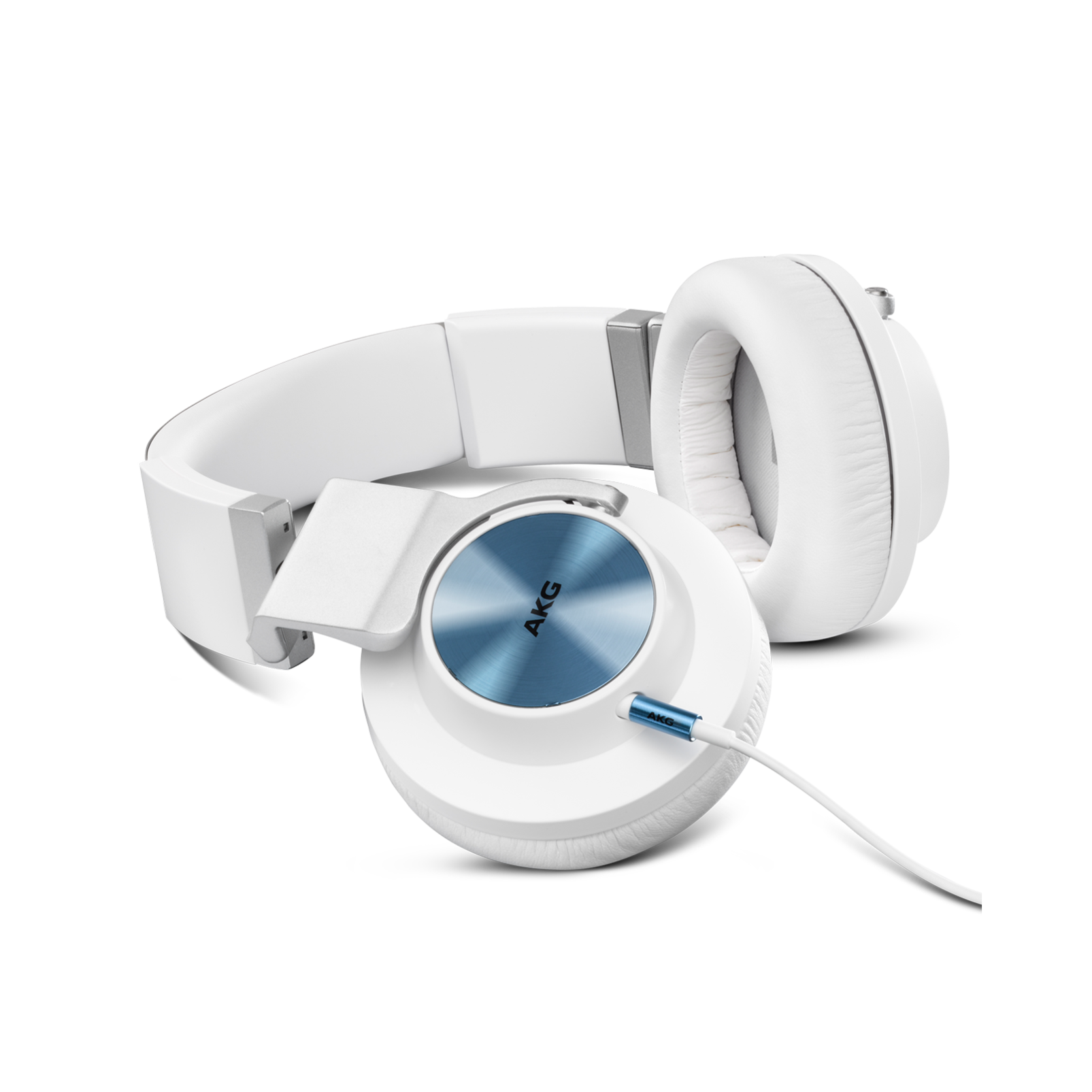 K 545 - White - High performance over-ear headphones with microphone and remote - Detailshot 1