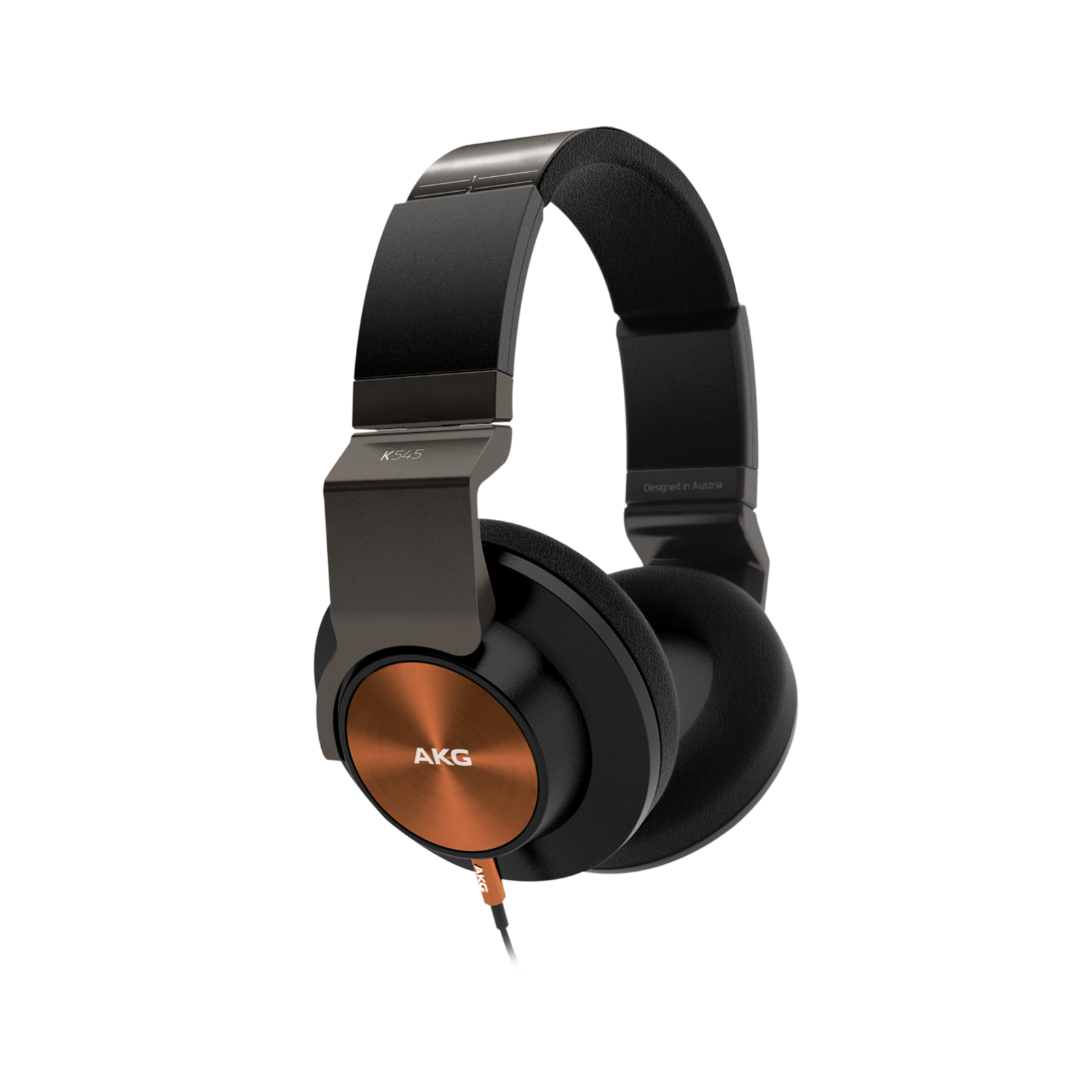 K 545 - Orange / Black - High performance over-ear headphones with microphone and remote - Hero