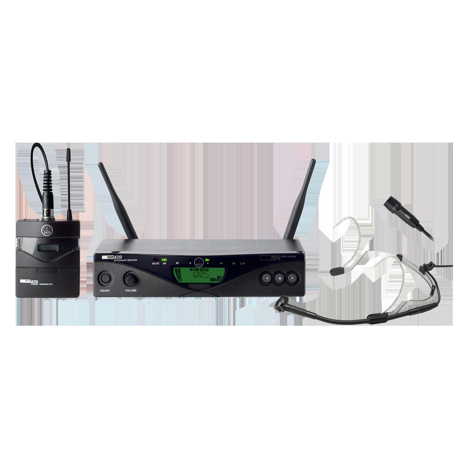 WMS470 Presenter Set - Black - Professional wireless microphone system - Hero