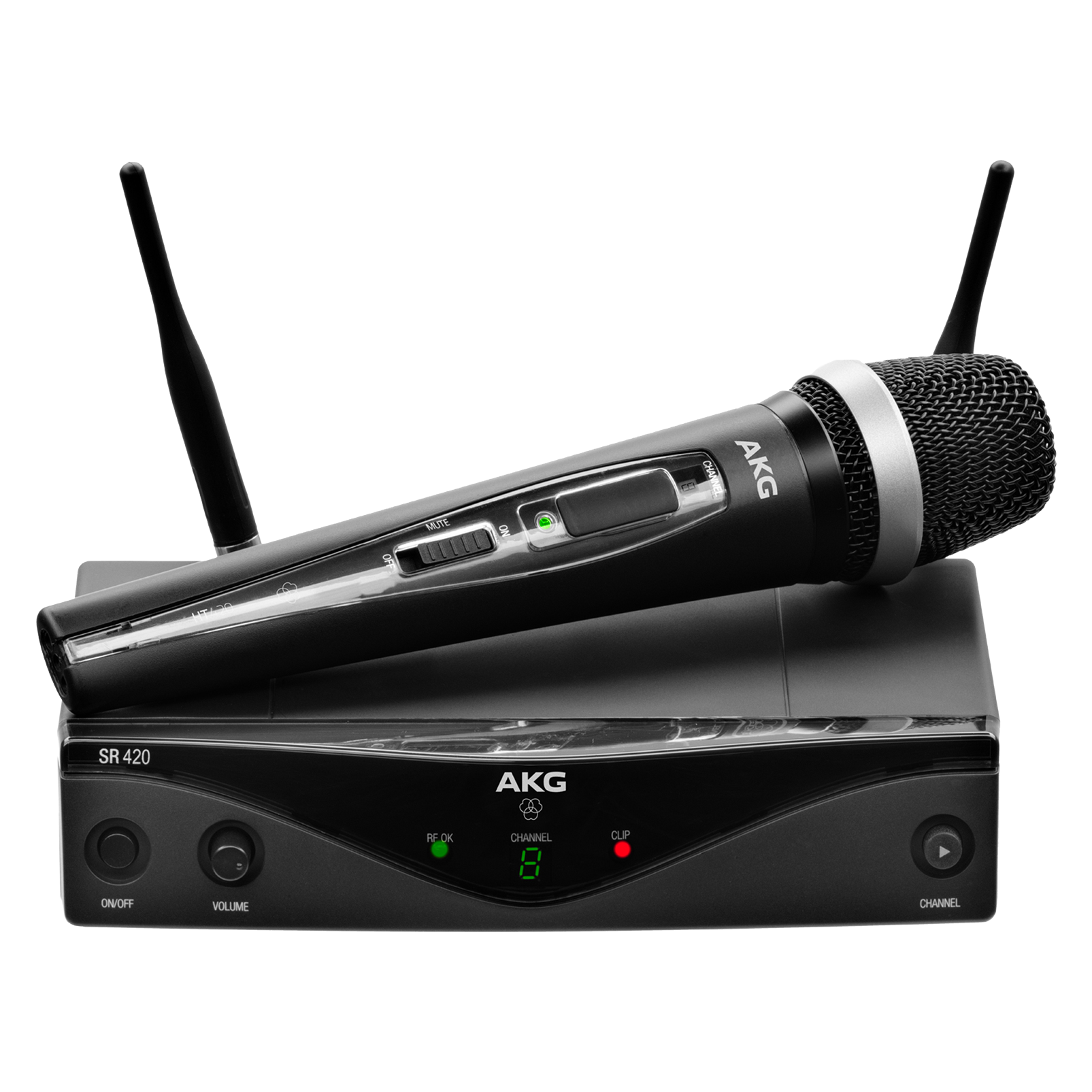 WMS420 Vocal Set Band-A - Black - Professional wireless microphone system - Hero