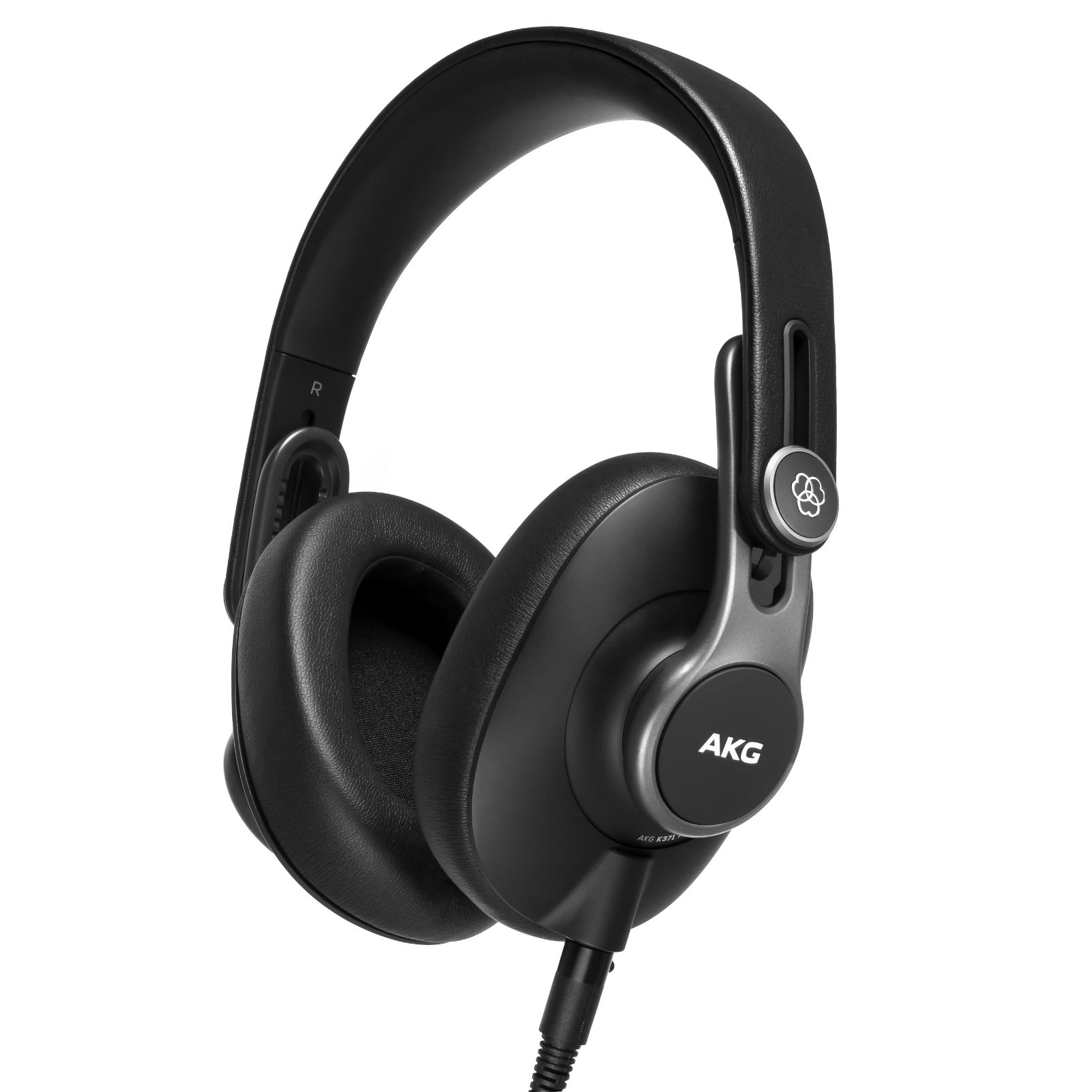 K371 - Black - Over-ear, closed-back, foldable studio headphones - Hero