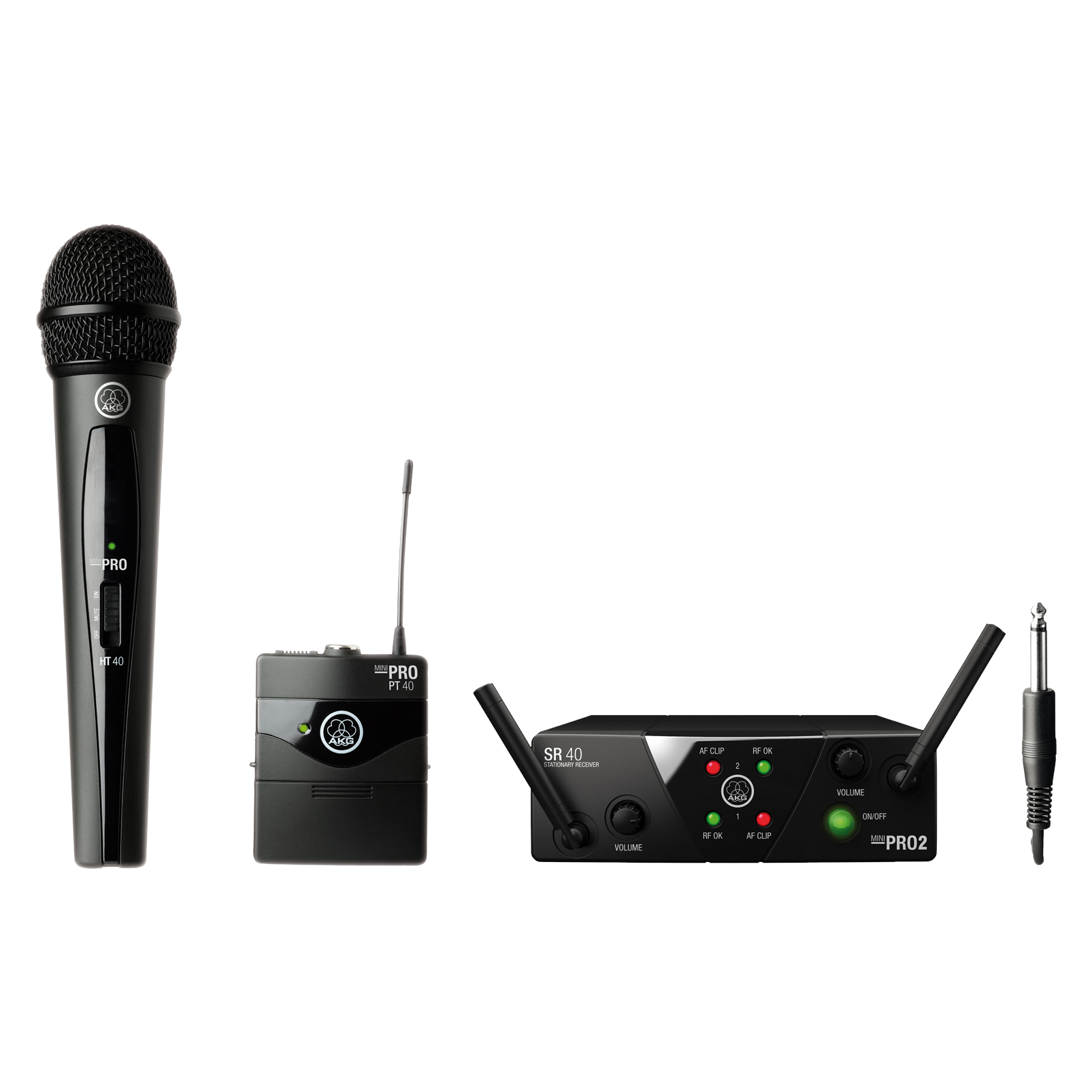 WMS40 Mini Dual Vocal Instrumental Set Band-US25-A/C - Black - Wireless microphone system - Hero