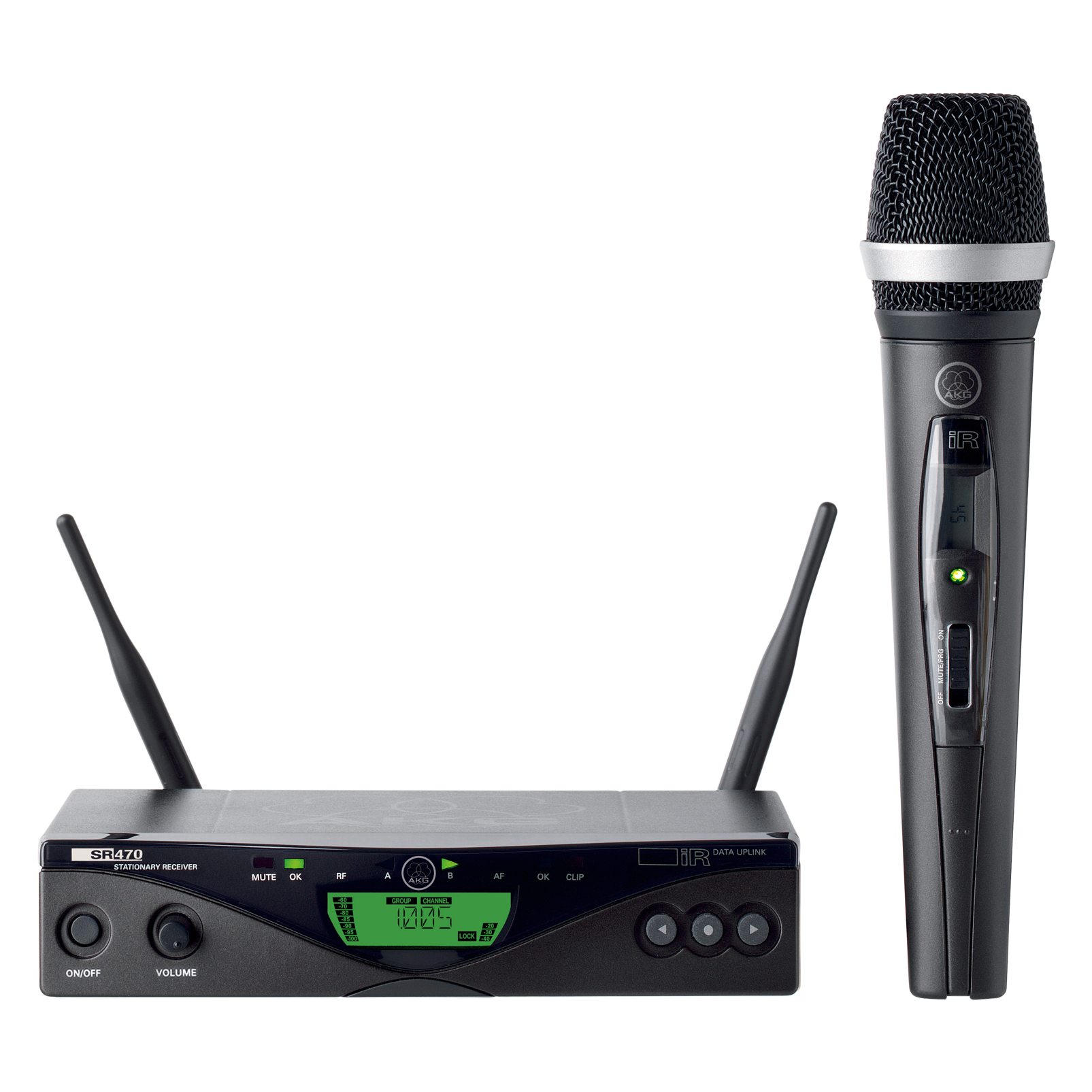WMS470 Vocal Set D5 - Black - Professional wireless microphone system - Hero